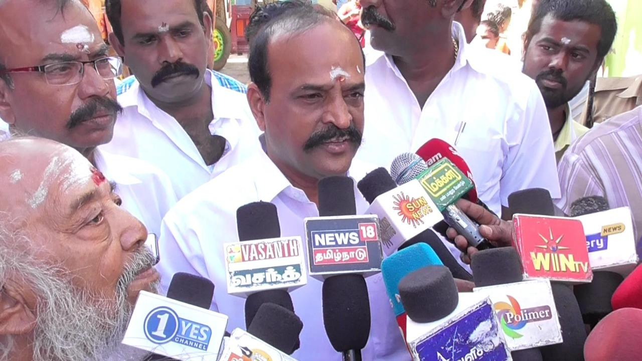 Minister kadamboor raju meet to press