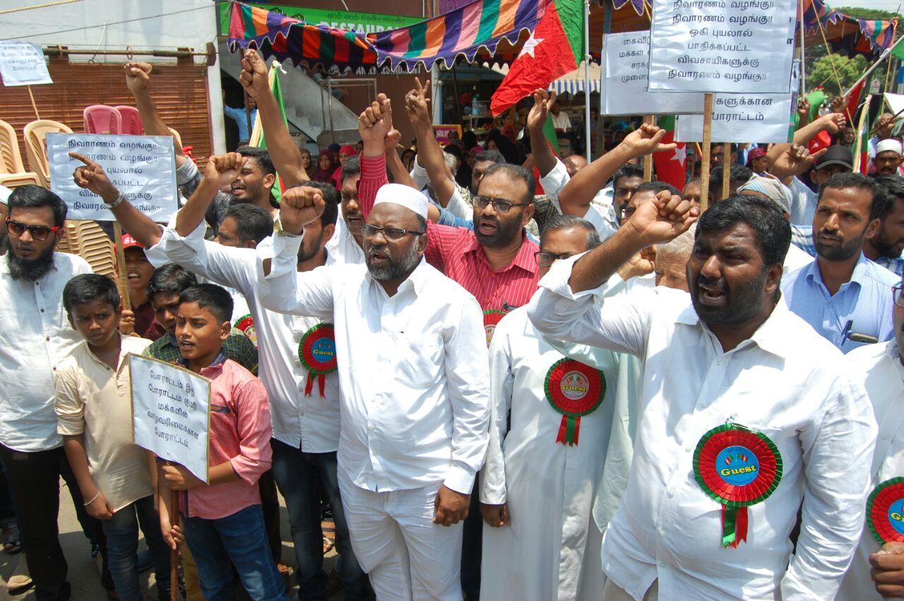 எஸ்.டி.பி.ஐ. கட்சி சார்பில் நாகர்கோவிலில் வாழ்வுரிமை ஆர்ப்பாட்டம் நடந்தது