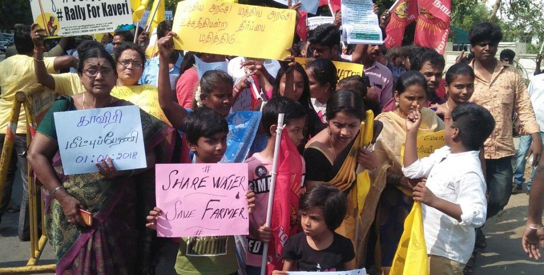 'காப்போம் காவிரியை' - சென்னையில் அமைதிப் பேரணிக்காகக் கூடிய இளைஞர்கள்