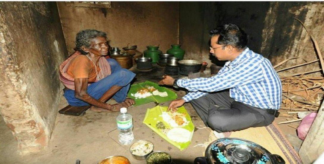 'ராக்கம்மாவுக்கு நல்ல உணவு கிடைக்க வேண்டும்!' - கலங்கவைத்த கரூர் கலெக்டர்