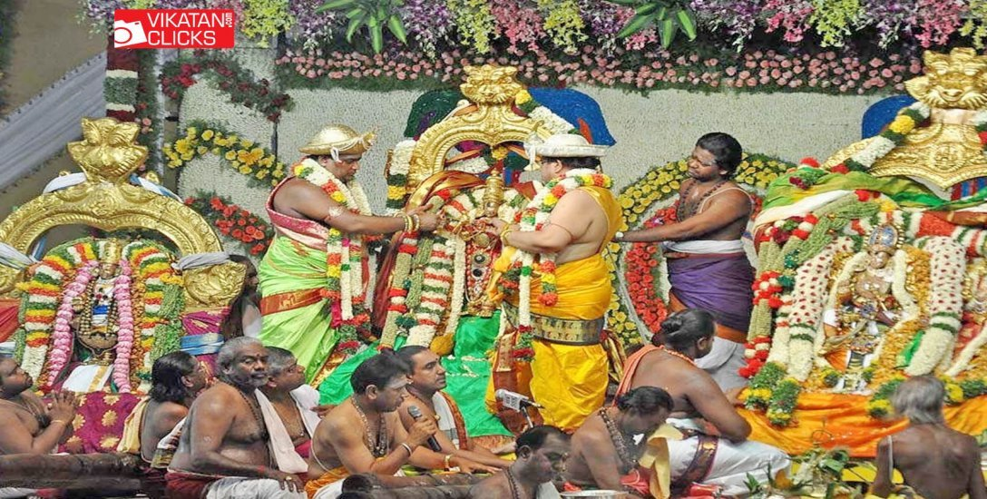 திருமண வரம், நிறைவான வாழ்க்கை அருளும் மதுரை ஸ்ரீமீனாட்சி திருக்கல்யாணம்! #VikatanPhotoStory