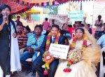 திருமணம் முடிந்த கையோடு போராட்டக் களத்துக்கு வந்த புதுமணத் தம்பதி! #BanSterlite
