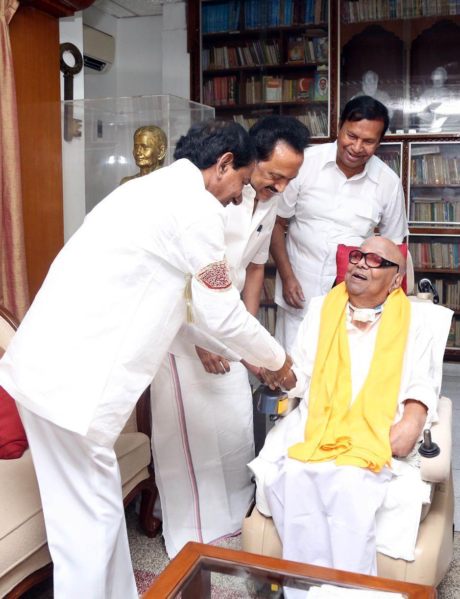 சந்திரசேகர் ராவ் கருணாநிதி ஸ்டாலின்