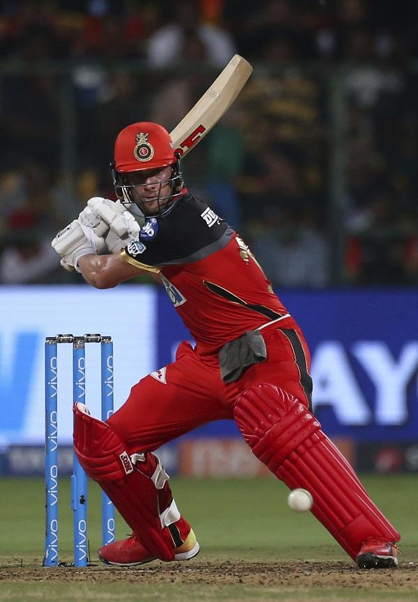 AB de villiers Plays a Shot #RCBvSRH