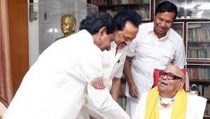 கருணாநிதி - சந்திரசேகர ராவ் - ஸ்டாலின்