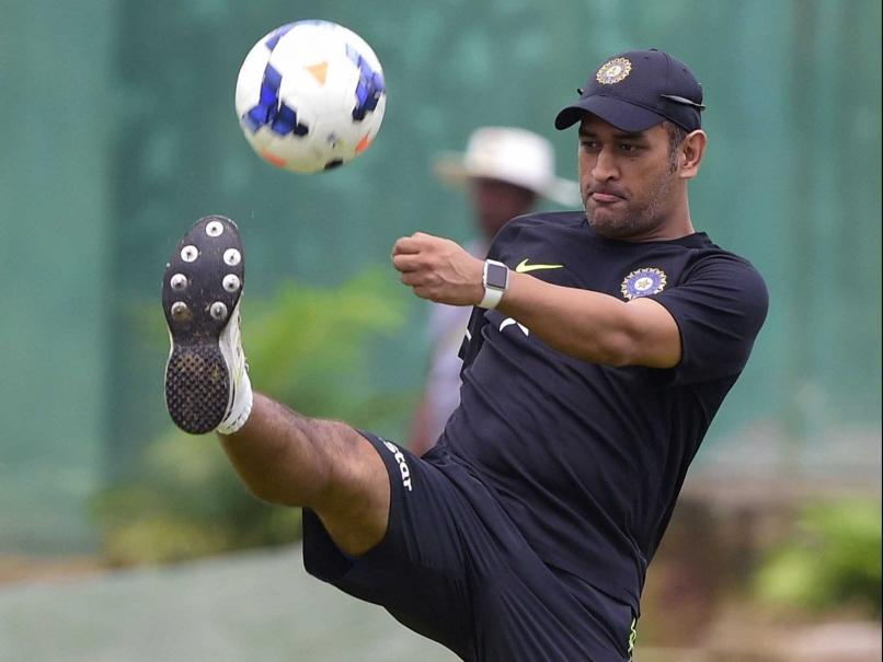 Dhoni Playing Football - Fitness