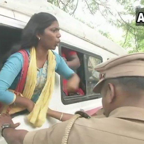 சி.பி.எஸ்.இ அலுவலகத்தை முற்றுகையிட்ட இந்திய மாணவர் சங்கத்தினர் #NEET