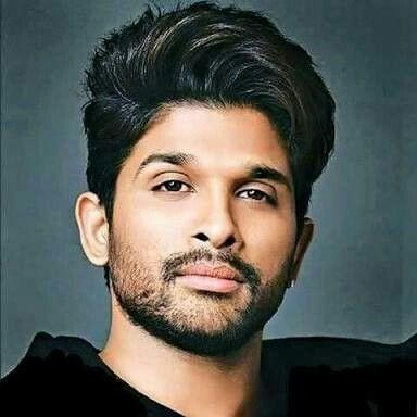 Allu Arjun with Straightened Hair