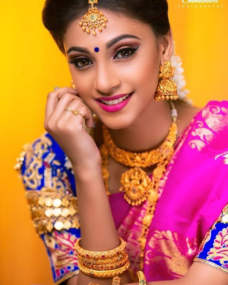 Traditional Pose of Anukreethy