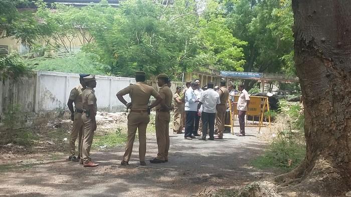 ரவுடி ஆனந்தன் சுட்டுக்கொல்லப்பட்ட இடத்தில் மாஜிஸ்திரேட் விசாரணை