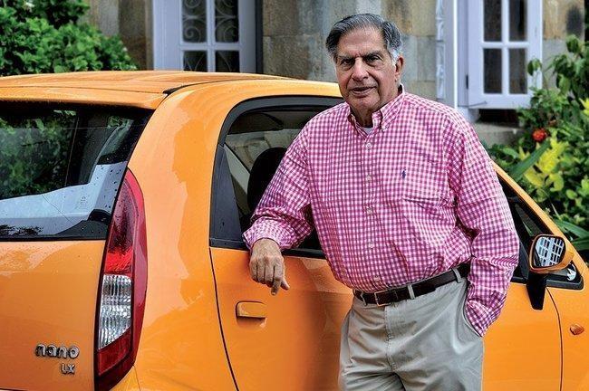 நானோவுடன் Ratan Tata