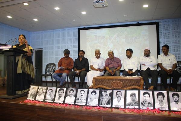 பிரகாஷ்ராஜ் அருள்மொழி உள்ளிட்டோர் கலந்துகொண்ட 'மறக்கமுடியுமா தூத்துகுடியை!' நிகழ்வு