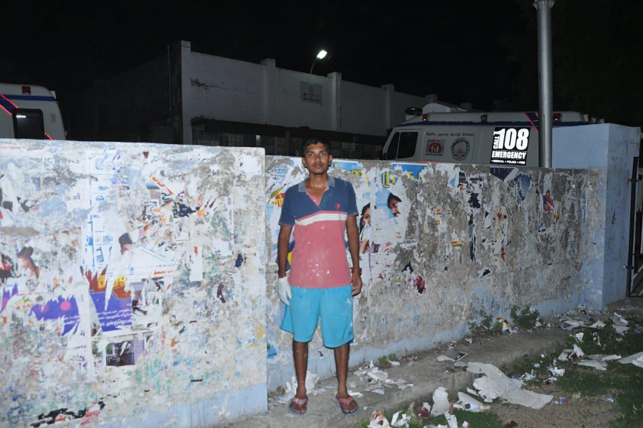 காஞ்சிபுரம் இளைஞரின் தூய்மைப்பணி