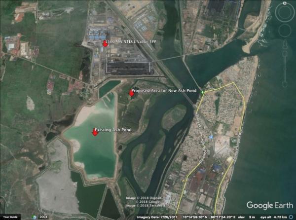 வல்லூர் அனல்மின் நிலையம் சாம்பல் குட்டை அமைக்கும் பகுதி