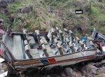 உத்ரகாண்டில் 60 அடி பள்ளத்தில் கவிழ்ந்த பேருந்து..! 20 பேர் பலியான சோகம்