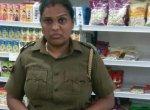 சிசிடிவி-யில் சிக்கிய சென்னைப் பெண் போலீஸ்! - கடை உரிமையாளருக்கு அடி, உதை #Shame