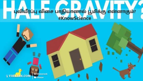 புவியீர்ப்பு விசை பாதியானால் பூமிக்கு என்னாகும்? #KnowScience