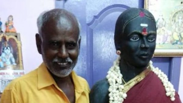 ` மனைவியால்தான் எல்லாம் வந்துசேர்ந்தது!' - சிலை வடித்த ஆச்சர்ய கணவர்