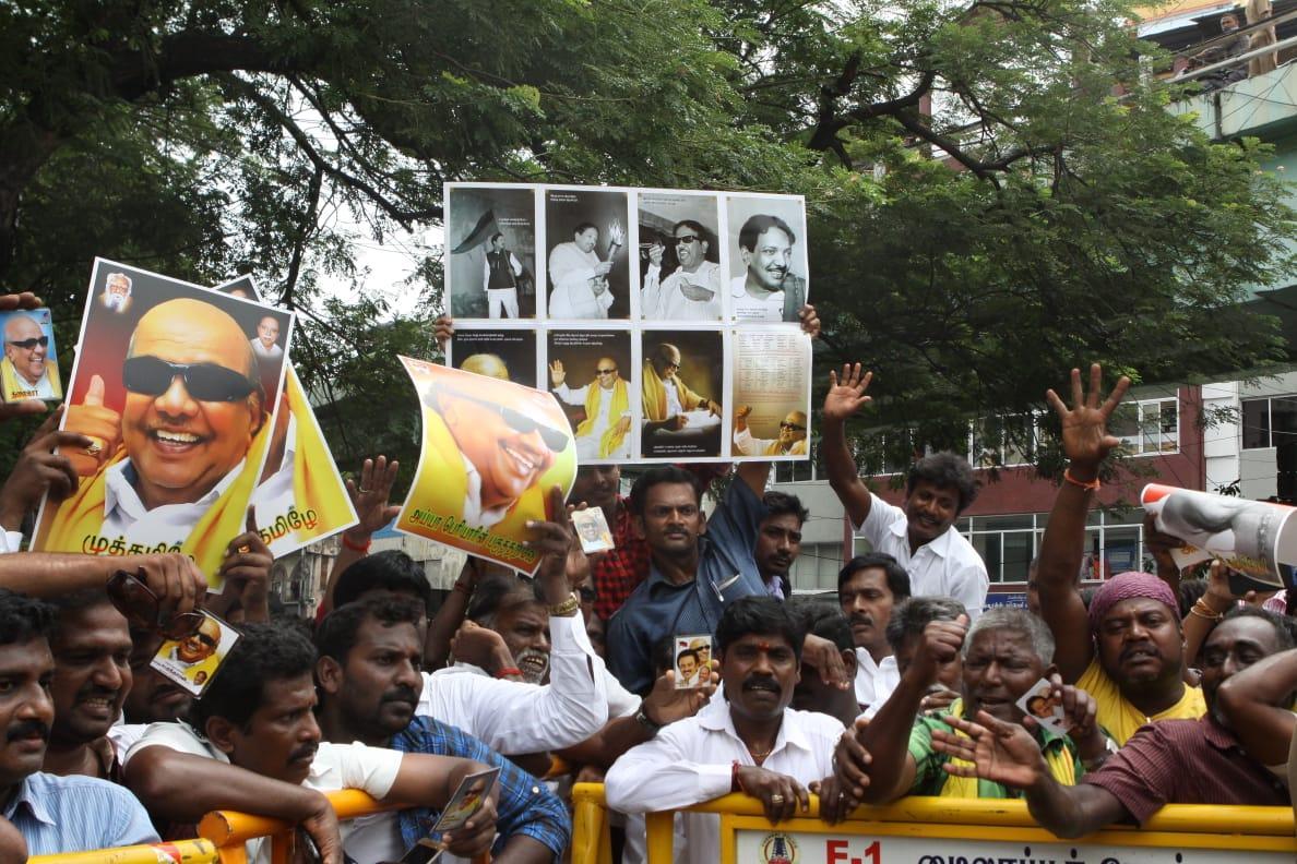 karunanidhi , DMK cadres