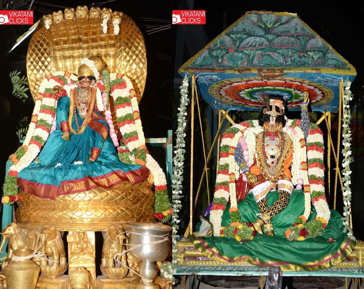 சேஷ வாகனம் - கோவர்த்தனிதாரி கோலம்