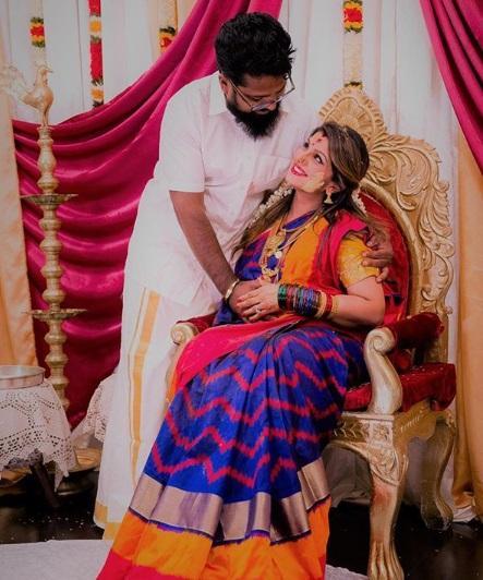 கணவருடன் ரம்பா