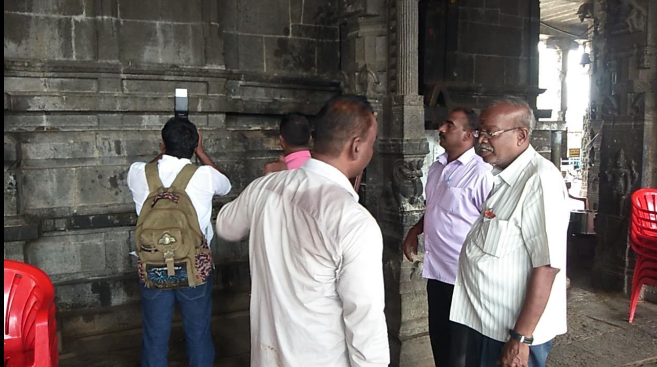 ஏகாம்பரநாதர் கோயில் சிலைகடத்தல் தடுப்பு பிரிவினர் ஆய்வு