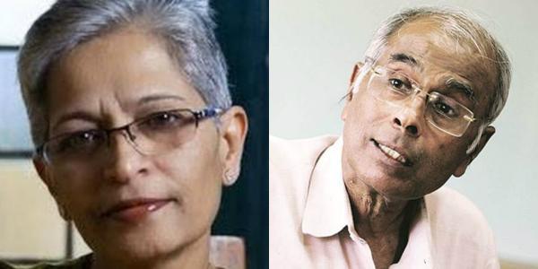 கௌரி லங்கேஷ் நரேந்திர தபோல்கர்