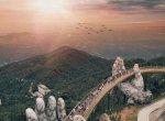 வாவ்... 3,280அடி உயரத்தில் பாலத்தை தாங்கி நிற்கும் ராட்சத கைகள்! #AmazingVideo