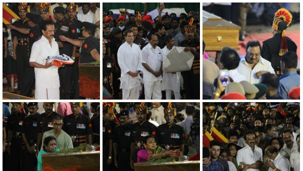 LIVE: Karunanidhi's Body Placed in Rajaji Hall For Public Homage