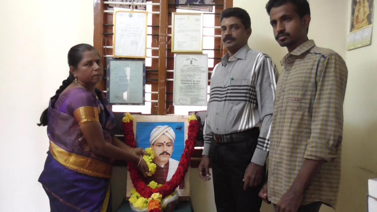 வ.உ.சிதம்பரனாரின் கொள்ளுப் பேத்தி செல்வி