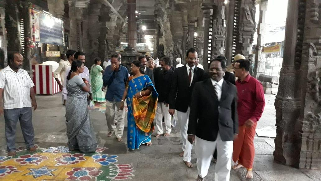 காஞ்சிபுரம் ஏகாம்பரநாதர் கோயில், நீதிபதிகள் ஆய்வு