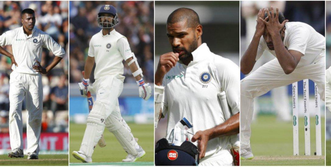 இங்கிலாந்தில் டெஸ்ட் தொடர் தோல்வி... இந்த 5 வீரர்கள்தான் காரணமா?!  #EngVInd