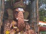சென்னையில் வாழைப்பூ, தேங்காயால் உருவாக்கப்பட்ட பிரமாண்ட விநாயகர் சிலை!