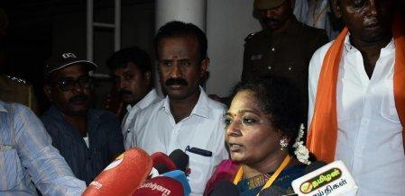 `கருணாஸ் மீது சட்டப்படி நடவடிக்கை எடுக்கப்பட்டுள்ளது!' - தமிழிசை