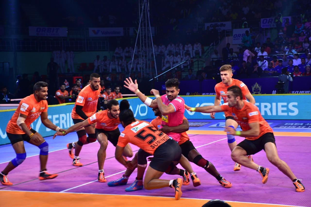 U Mumba vs Jaipur Pink Panthers