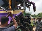 `ஜெயங்கொண்டம் அருகே பேருந்துகள் நேருக்கு நேர் மோதல்!' - பெண் பலி; 10-க்கும் மேற்பட்டோர் படுகாயம்