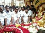 பசும்பொன் குருபூஜை - தேவர் நினைவிடத்தில் அரசியல் தலைவர்கள் அஞ்சலி