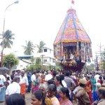 `கஜா' புயலால் காலையிலேயே நடந்த மயூரநாதர் தேரோட்டம்!