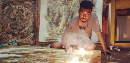 `பட்டாசு ஓவியம் வரைஞ்சப்போ..?' - நெருப்பு ஓவியர் வசந்தகுமாரின் ஷேரிங்ஸ்
