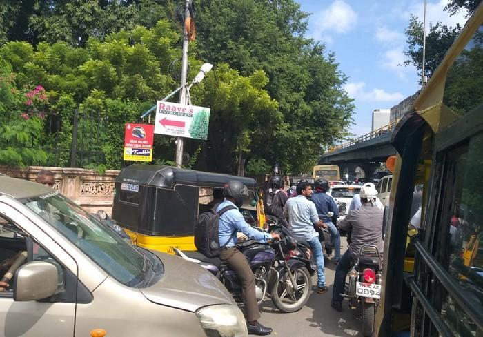 சென்னையில் போக்குவரத்து நெரிசல்