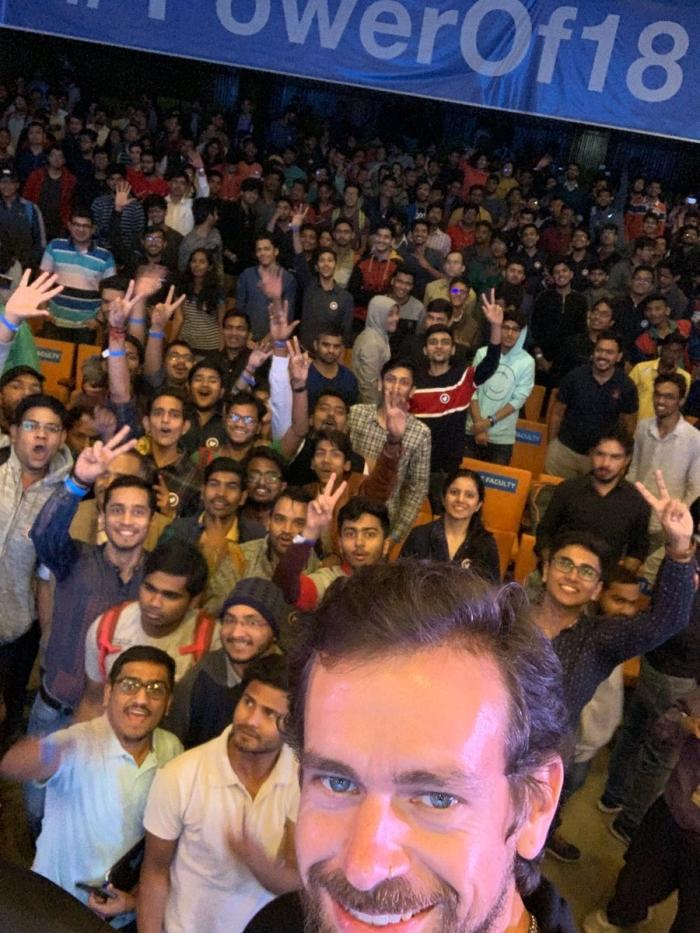 Twitter CEO Jack in IIT delhi