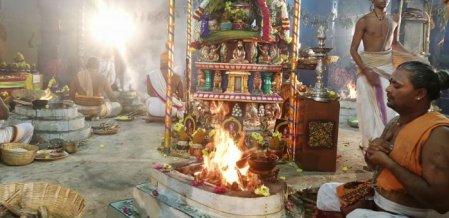 சென்னைக் காளிகாம்பாள் கோயிலில் ஶ்ரீபிரத்யங்கிரா மகா யாகம்!