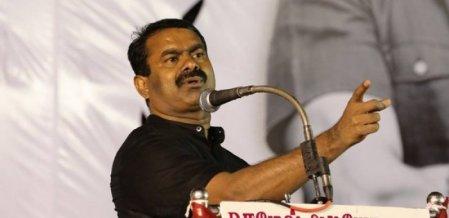 'மீண்டும் காங்கிரஸைத் தோற்கடிப்போம்!' - தேர்தல் பிரசாரத்தைக் கையில் எடுத்த சீமான்