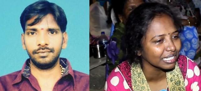 மனைவியுடன் ரவுடி சந்தானம்