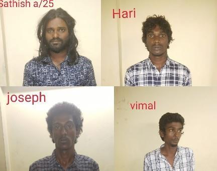 கைதான ரவுடிகள்