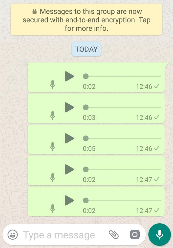 Consecutive Voice Message