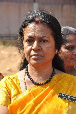 தமிழ்த்துறைத் தலைவர் கவிதா ராணி.