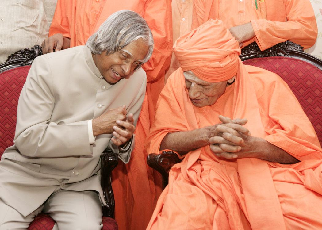 அப்துல் கலாம் மற்றும் சிவகுமார சுவாமிகள்
