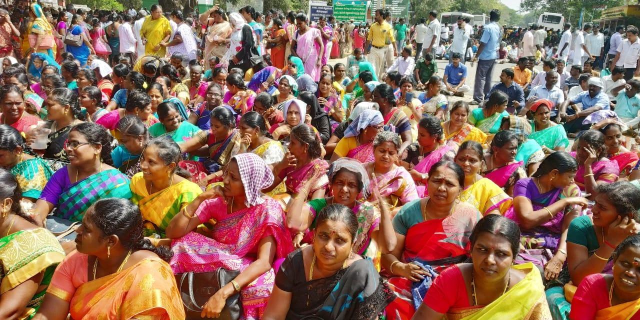ராமநாதபுரத்தில் மறியலில் ஈடுபட்ட ஜாக்டோ-ஜியோ அமைப்பினர்