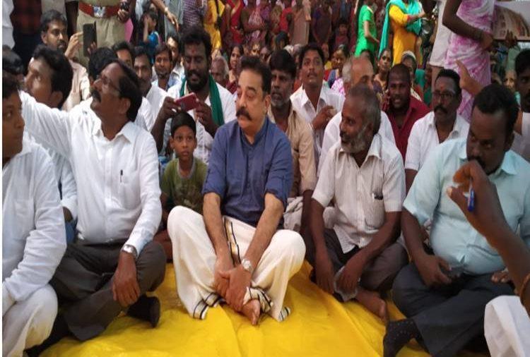 உத்தரமேரூர் கிராம சபைக் கூட்டத்தில் கமல்ஹாசன்